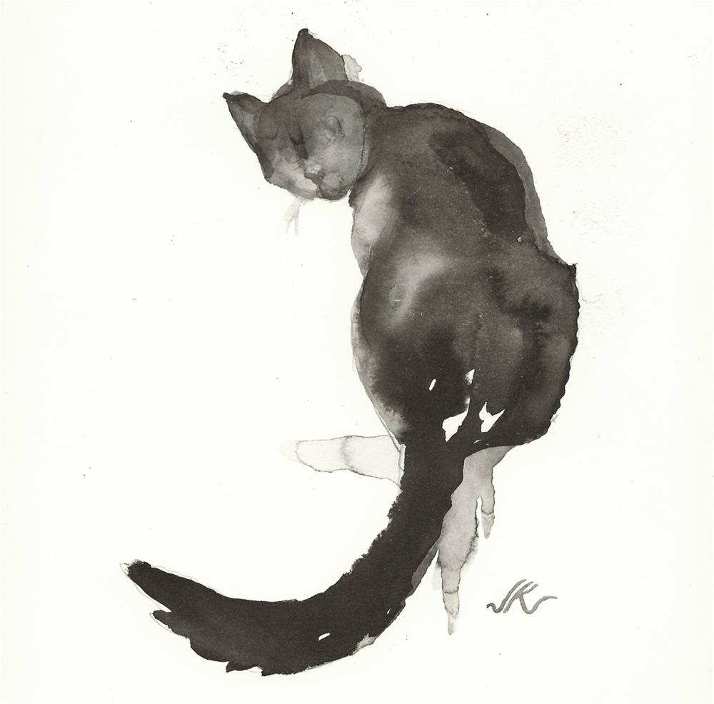 """Daily Cat 68"" original fine art by Jean Krueger"