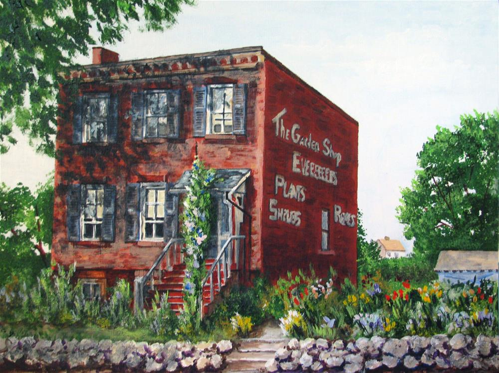 """The Garden Shop"" original fine art by Nan Johnson"