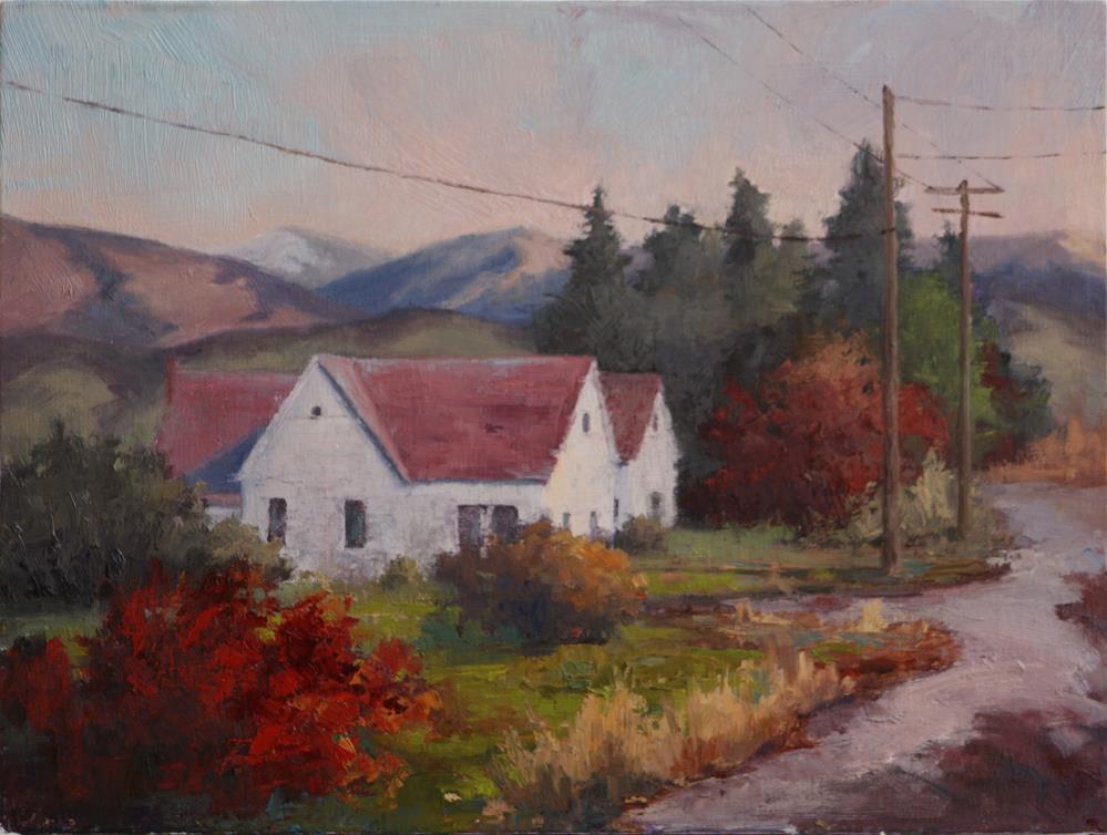 """Scarlet Bush"" original fine art by Sheila Marie"