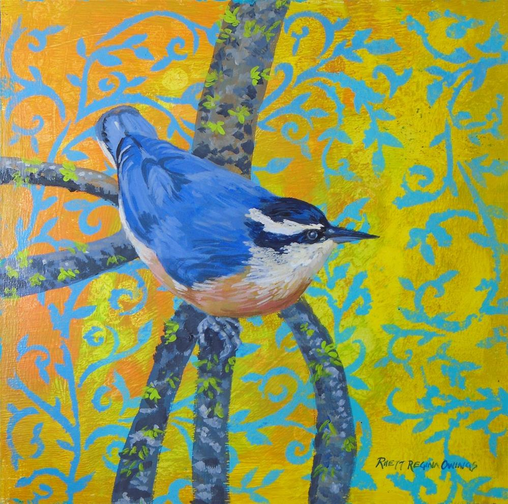 """Nuthatch"" original fine art by Rhett Regina Owings"
