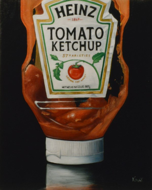 """""""Almost Out of Ketchup"""" original fine art by Kim Testone"""