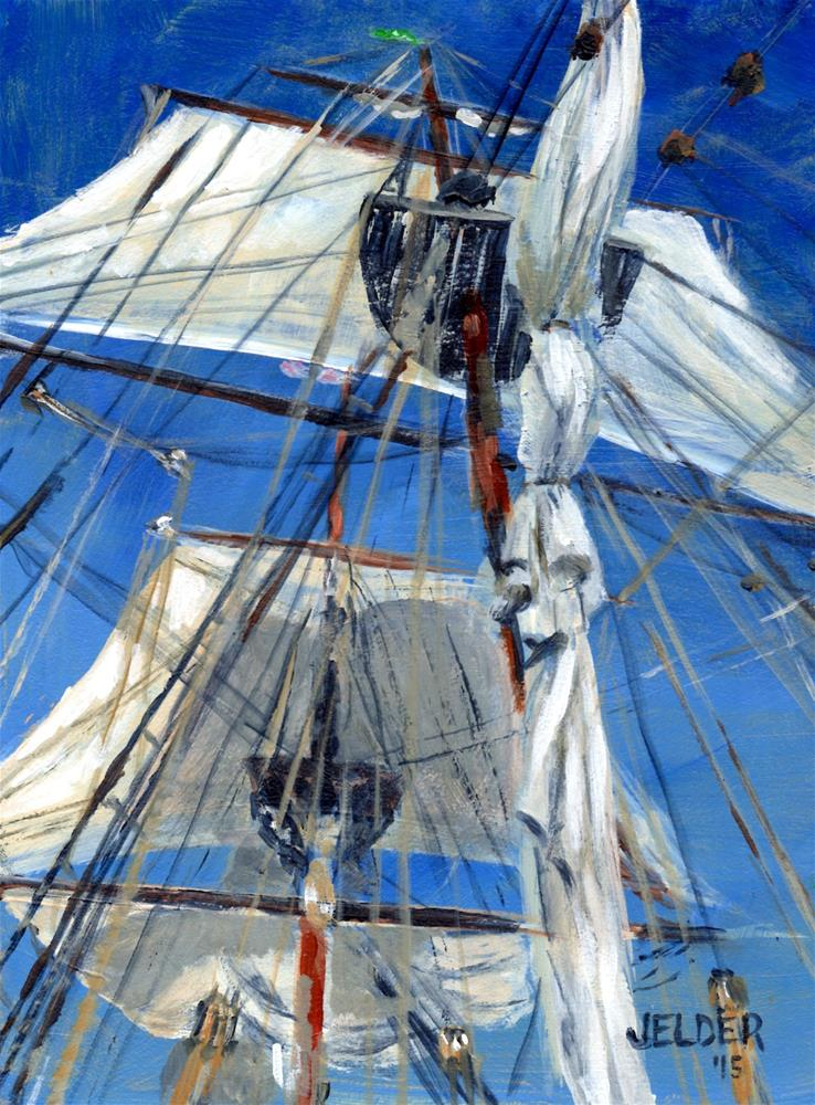 """Lady Washington"" original fine art by Judith Elder"