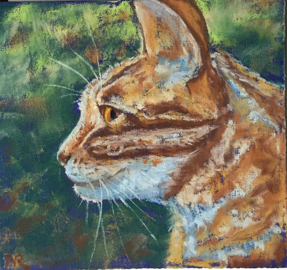 """Pretty orange tabby"" original fine art by Natasha Ramras"