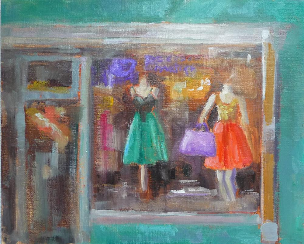 """Window Dressing"" original fine art by Carol Josefiak"