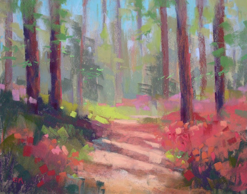 """Tips for Painting the Spring Landscape"" original fine art by Karen Margulis"