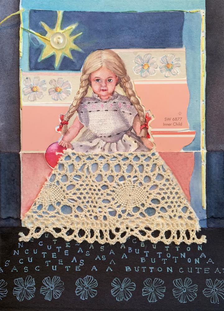 """Cute as a Button"" original fine art by Beatrix Pearl"