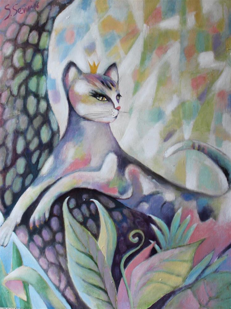 """The Queen of Shadows"" original fine art by Lana Sevin"