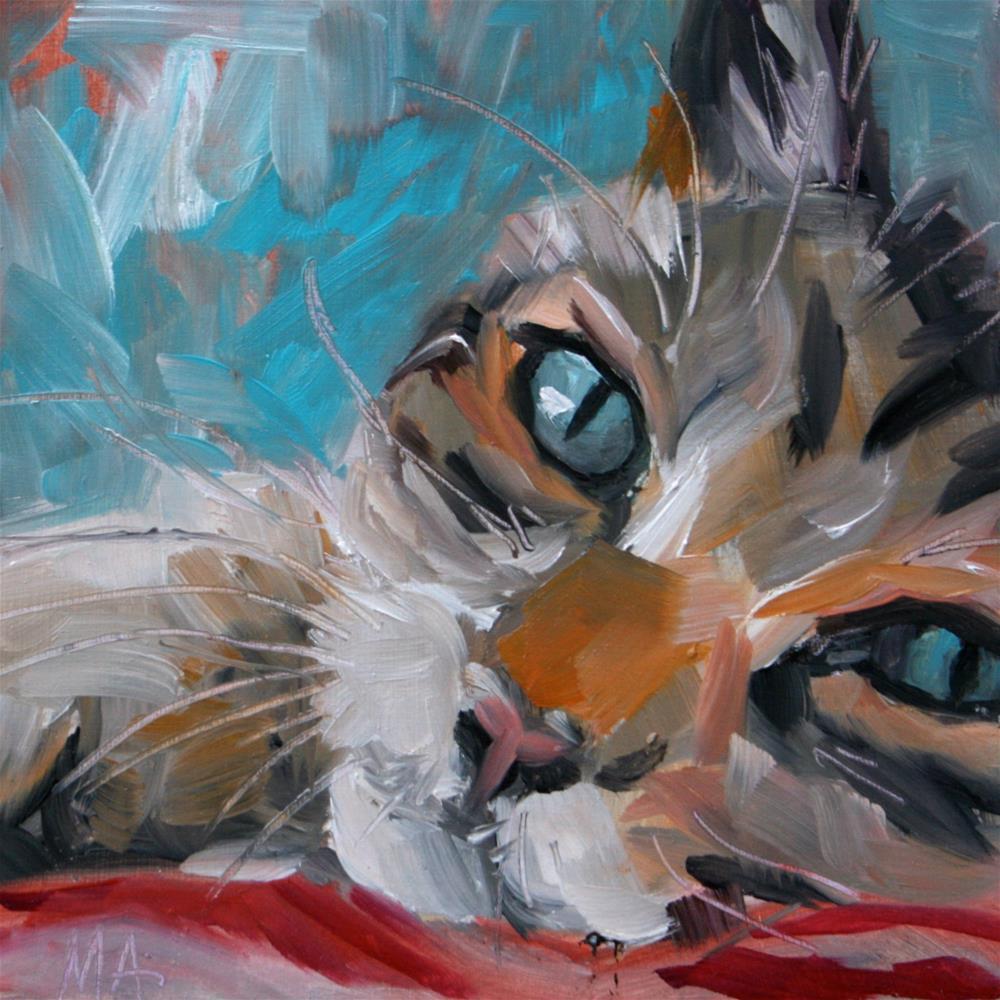 """""""A Teacher of Stillness"""" original fine art by Aniko Makay"""