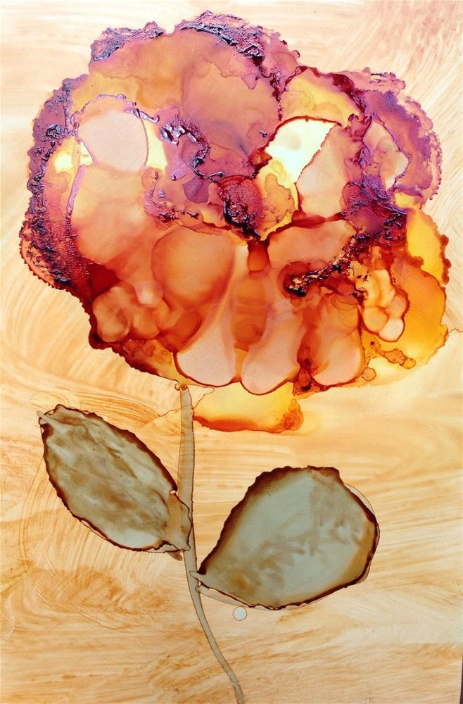 """sunset rose"" original fine art by Kris Alge"