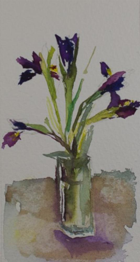 """Miniature Iris"" original fine art by Sue Churchgrant"