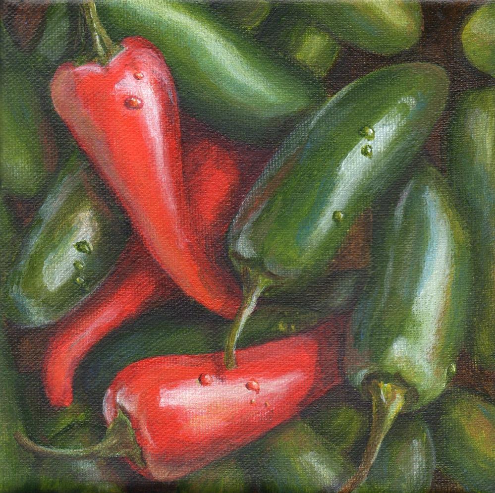 """Pick a Peck"" original fine art by Debbie Shirley"