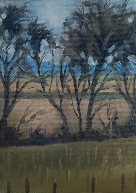"""March Trees"" original fine art by J M Needham"