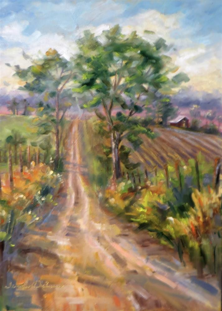 """""""Old Dirt Road"""" original fine art by Tammie Dickerson"""