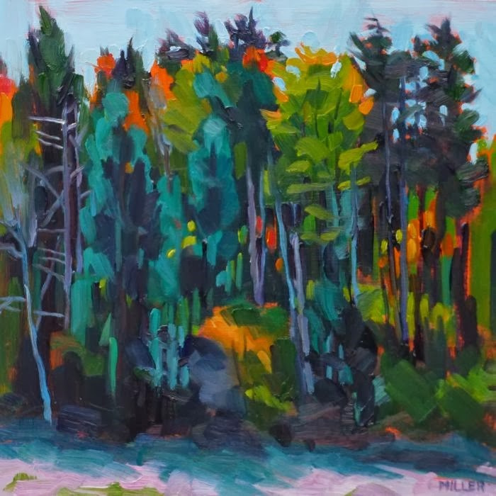 """Maine Woods"" original fine art by Jessica Miller"
