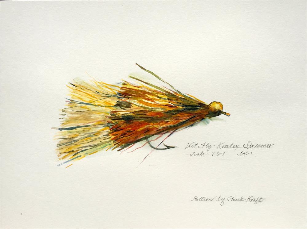 """""""Wet Fly - Kreelex Streamer"""" original fine art by Jean Krueger"""