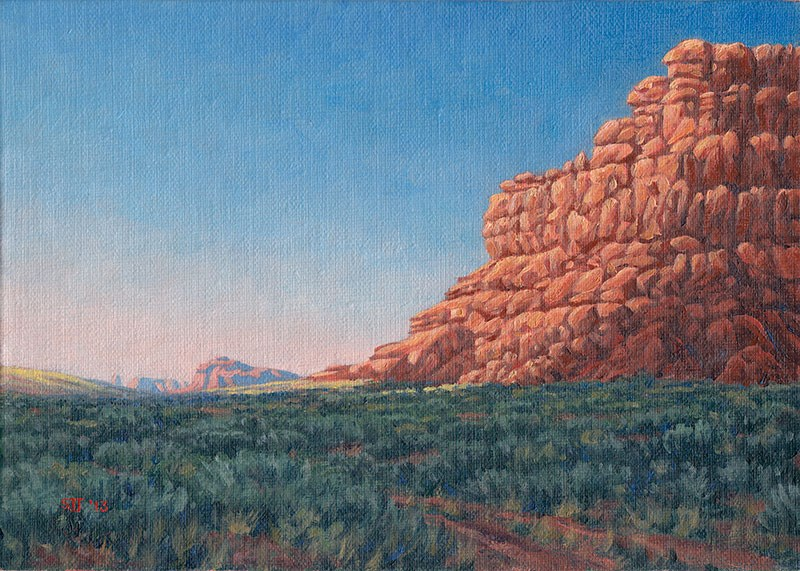 """C1497 In the Valley of the Gods"" original fine art by Steven Thor Johanneson"