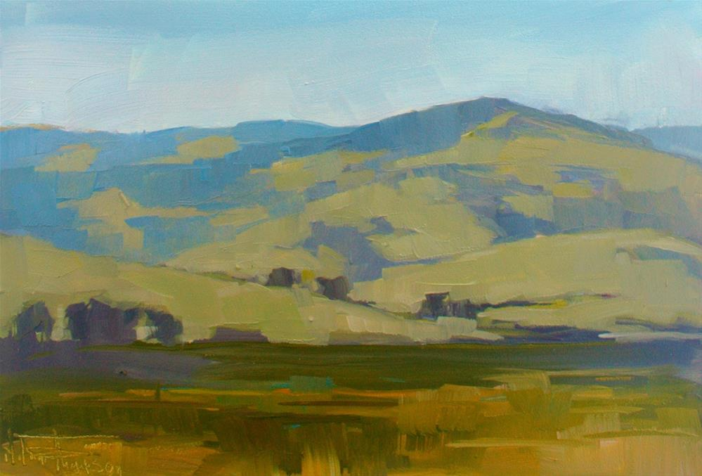 """Pikes Peak Under Blue Skies"" original fine art by Melanie Thompson"