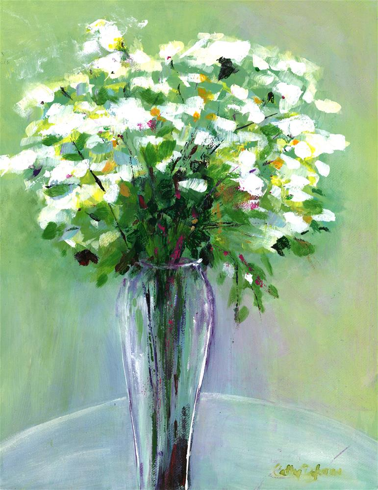 """""""Vase of Whites"""" original fine art by Cathy Dykstra"""