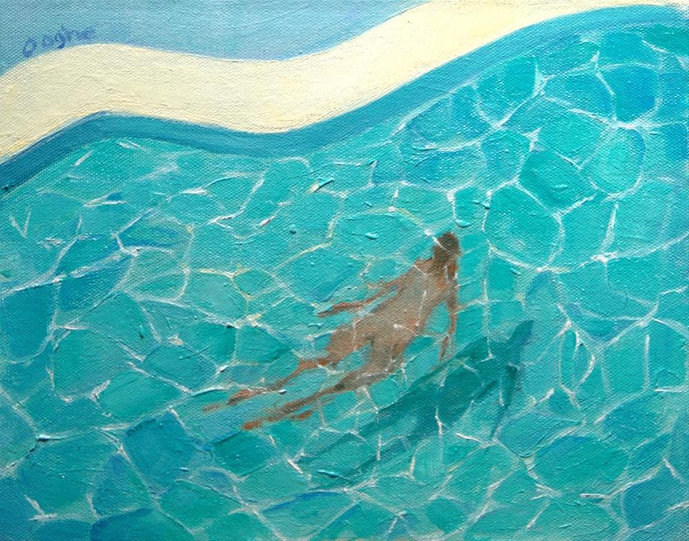 """Underwater Nude"" original fine art by Angela Ooghe"