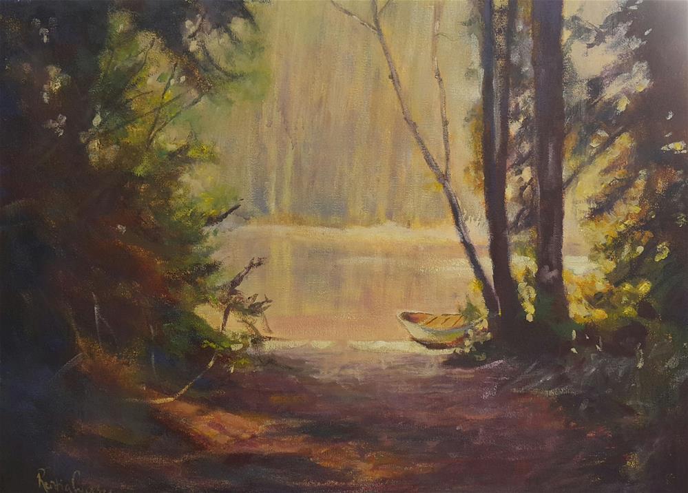 """Let's go boating"" original fine art by Rentia Coetzee"
