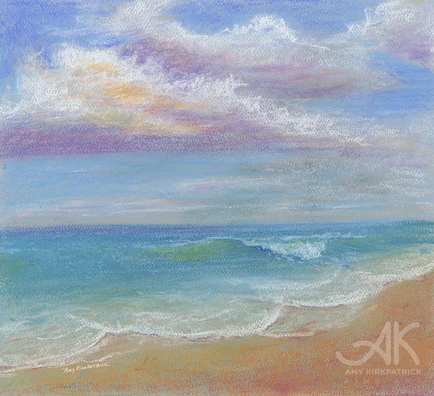 """PASTEL BEACH #0682)"" original fine art by Amy Kirkpatrick"