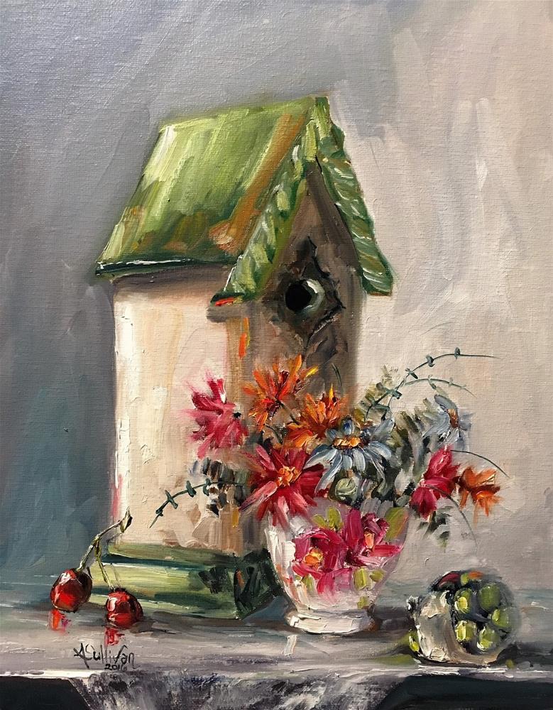 """Snail Mail still life painting by Alabama Artist Angela Sullivan"" original fine art by Angela Sullivan"