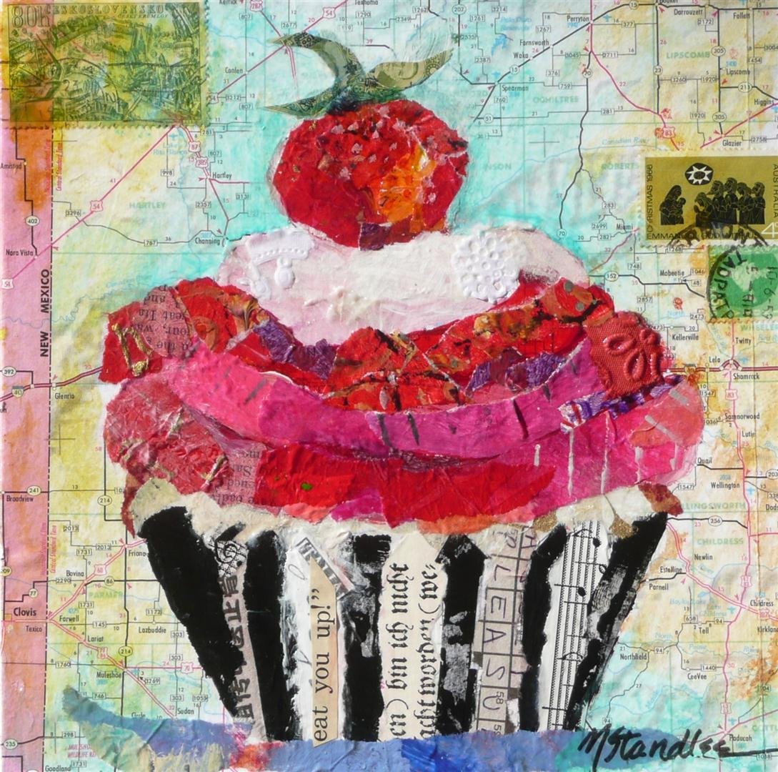 """""""Eat You Up, Cupcake, 11031 SOLD"""" original fine art by Nancy Standlee"""