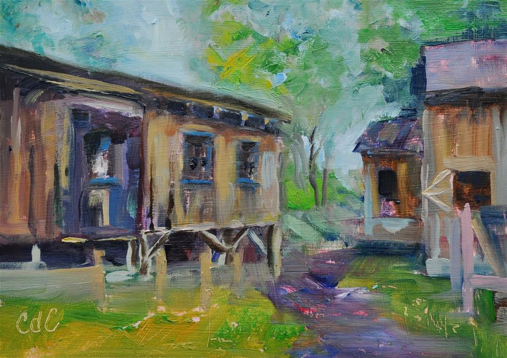 """Ohio Saw Mill"" original fine art by Catherine Crookston"