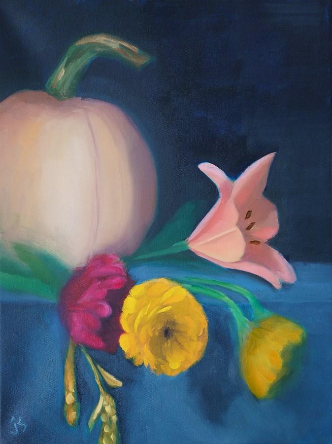 """September Setting (16 x 12)"" original fine art by Johnna Schelling"