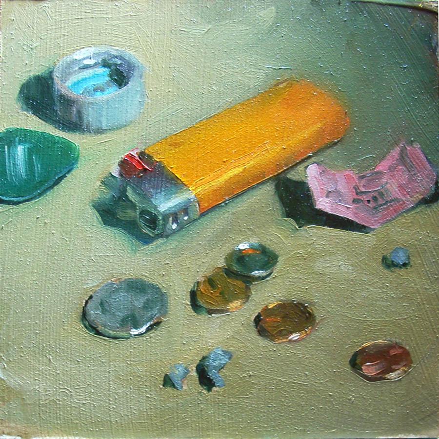"""Bill's Right Pocket"" original fine art by Karen Boe"