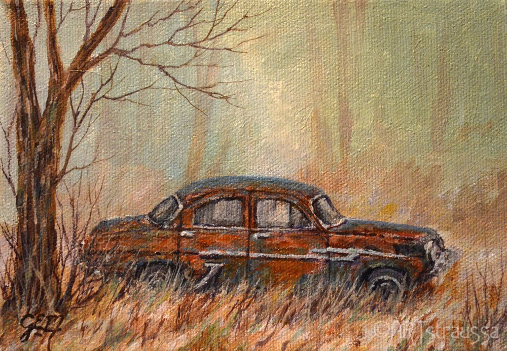 """Rusted And Forgotten"" original fine art by Gloria Ester"