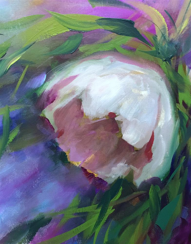"""""""Only Kindness White Tulip"""" original fine art by Nancy Medina"""