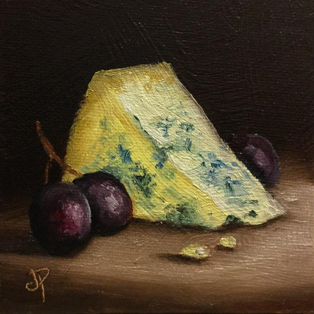 """Little Cheese with Grapes"" original fine art by Jane Palmer"