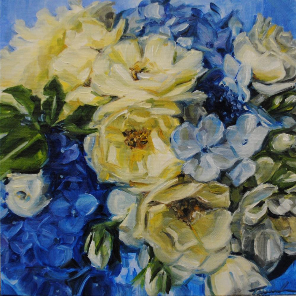"""Blue Hydrangea 096"" original fine art by Tamanda Elia"