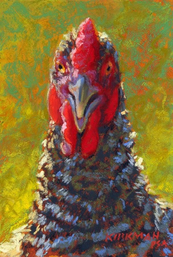 """""""Little Mister Chicken"""" original fine art by Rita Kirkman"""