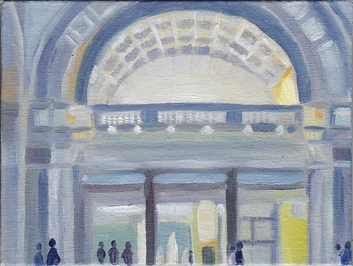 """A Trip to the V&A Museum"" original fine art by J M Needham"