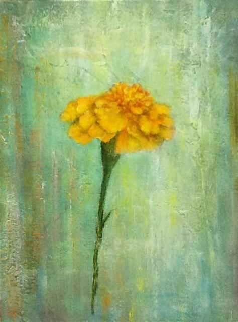 """""""Little Flower"""" original fine art by Maureen Bowie"""