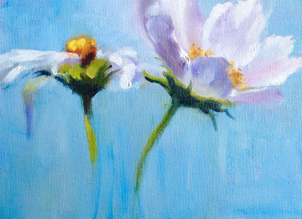 """Out of the blue"" original fine art by Linda Carney"