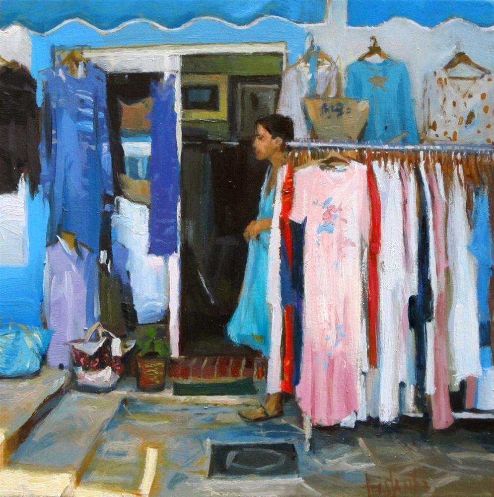 """""""Clothes shop"""" original fine art by Víctor Tristante"""