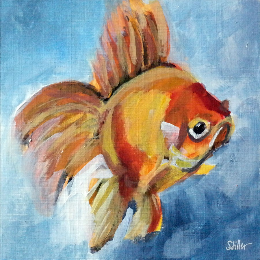 """2649 Goldfish 2"" original fine art by Dietmar Stiller"