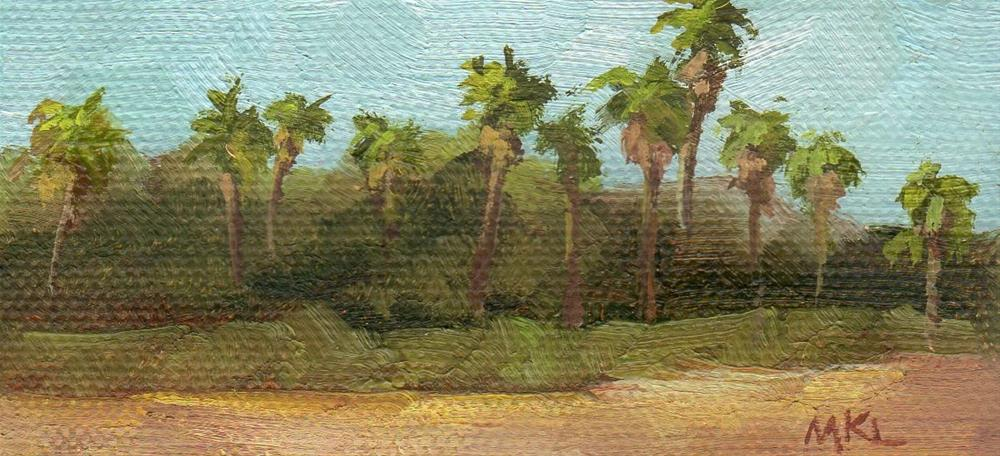 """""""Palm Trees by the Highway"""" original fine art by Marlene Lee"""