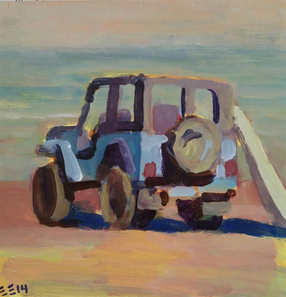 """Beach Buggie"" original fine art by Liz Maynes"