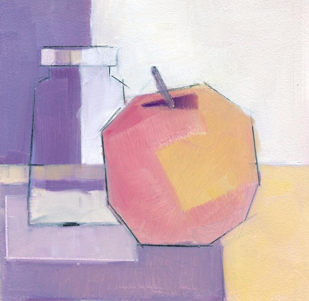 """An Apple a Day"" original fine art by Mitch Egeberg"
