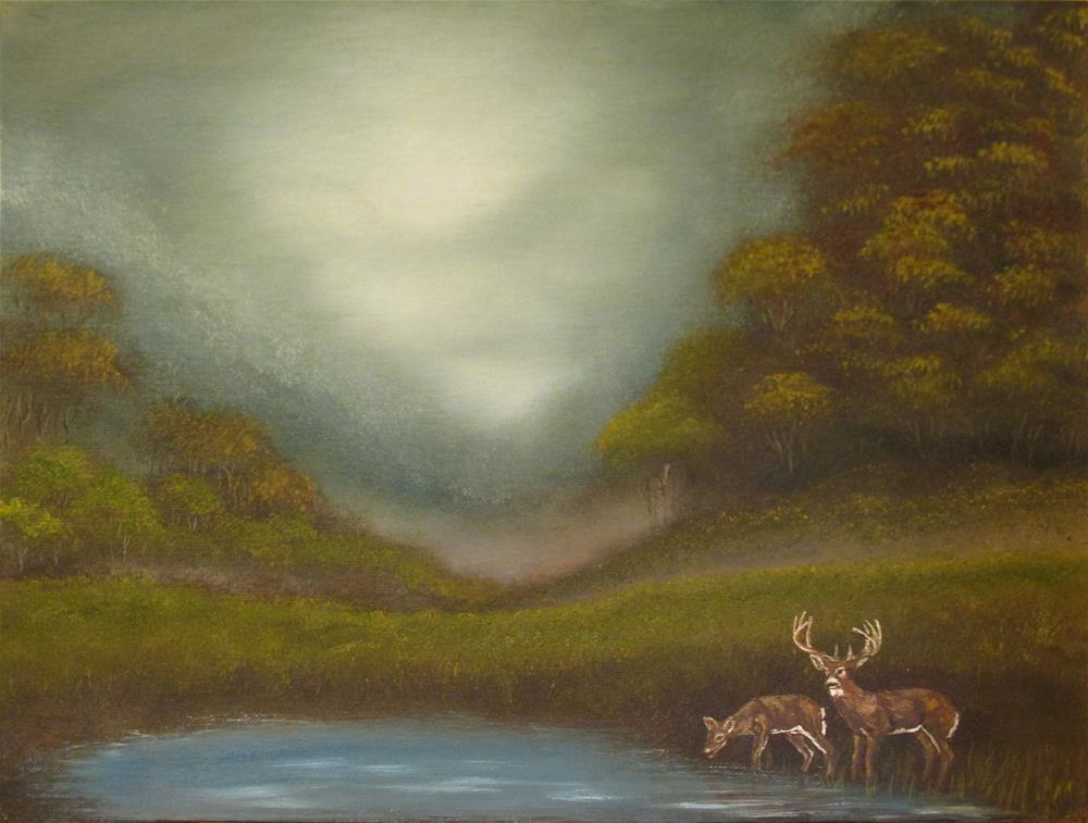 """LandscapeStudy-21"" original fine art by Mary Sylvia Hines"