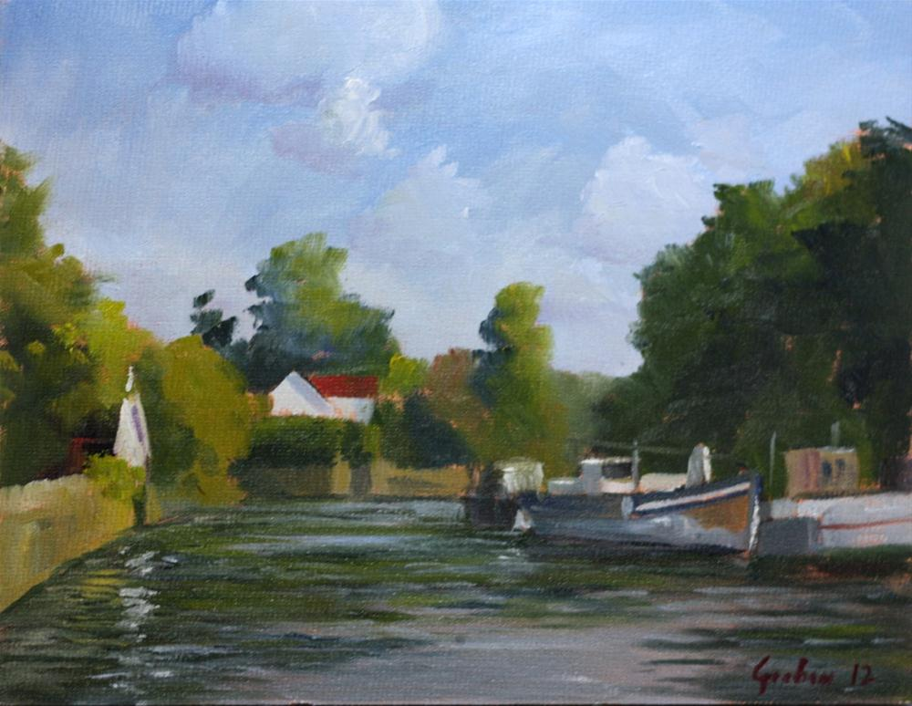 """River Thames at Twickenham"" original fine art by Graham Townsend"