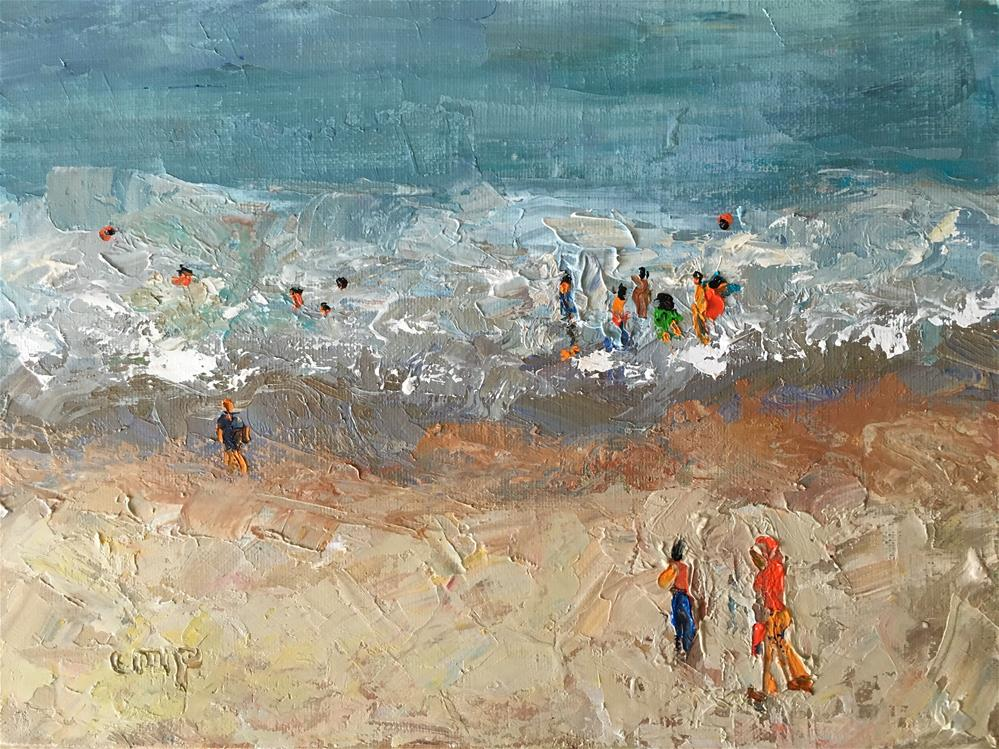 """Abstract figurative seascape"" original fine art by Christine Parker"