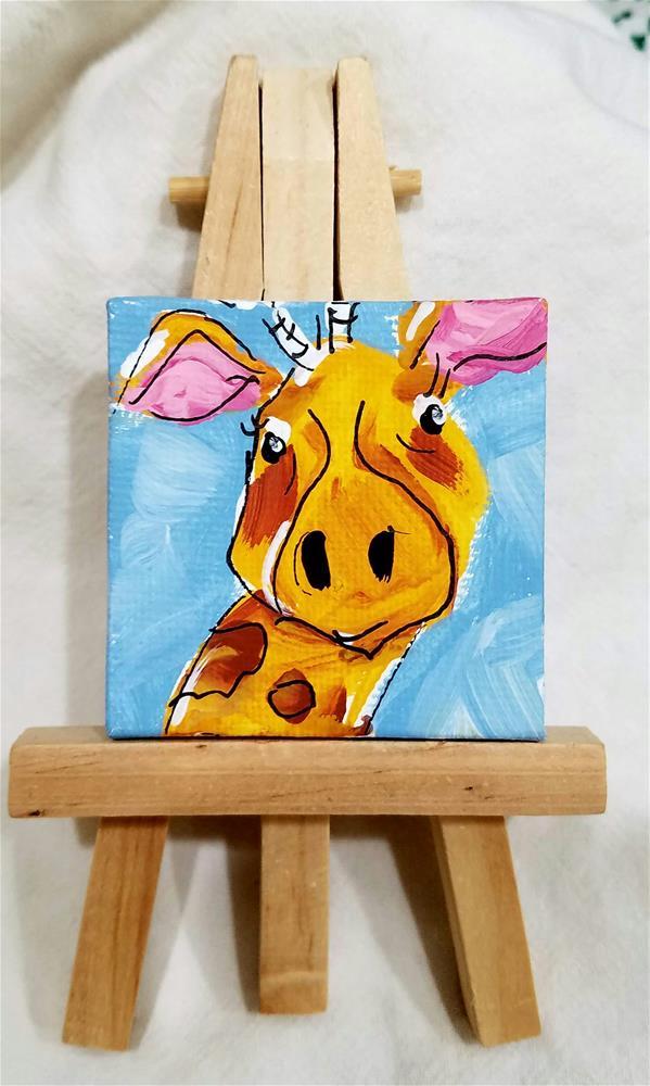 """""""Itty Bitty Giraffe"""" original fine art by Terri Einer"""