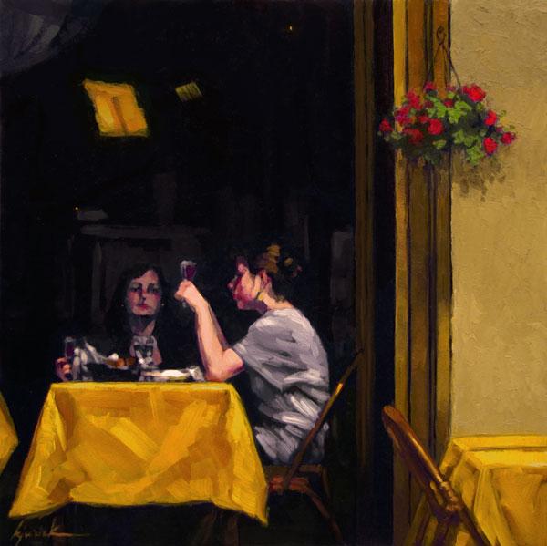 """Wine:30"" original fine art by Karin Jurick"