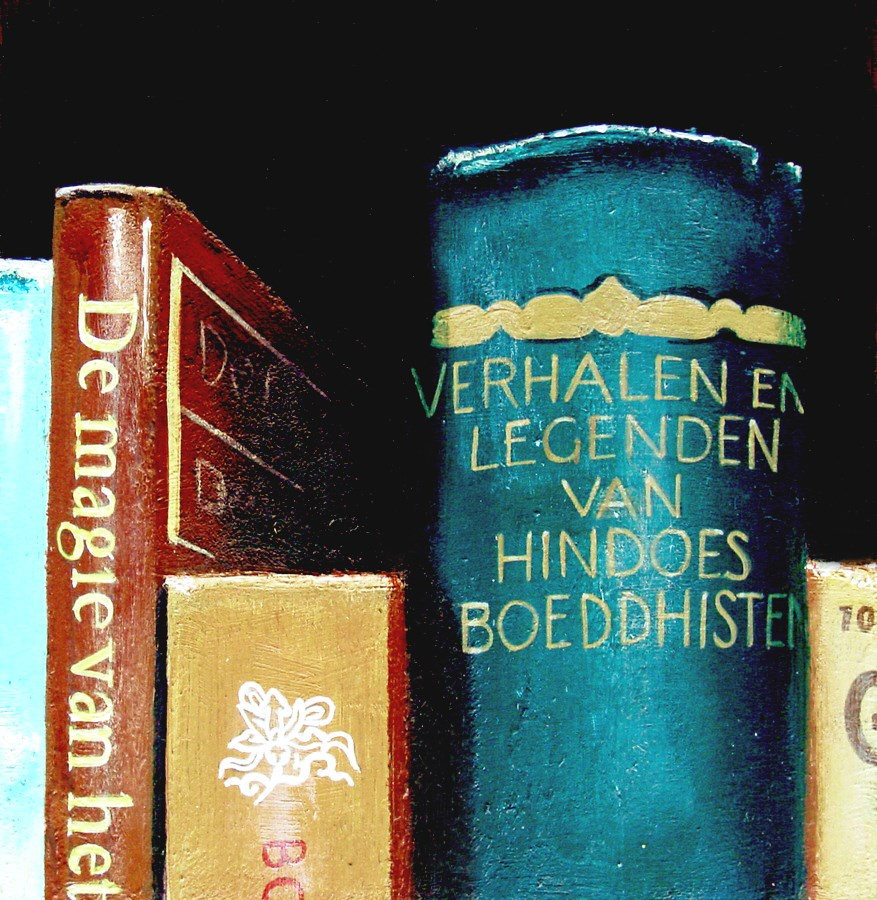 """""""Tales And Legends- Still Life Painting Of Books On Tales And Legends"""" original fine art by Gerard Boersma"""