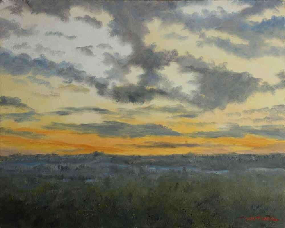 """Sunset on Doomsday 12-21-12"" original fine art by Kirk Witmer"